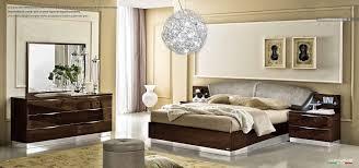 Contemporary Italian Bedroom Furniture Modern Walnut Italian Bedroom Set With Swarovski Headboard