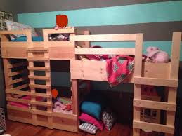 Bunk Beds For Three My Best Friend U0027s Husband Made Bunk Beds For Their Three Kids
