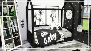 Black And White Bed Sims 4 Speed Build Let U0027s Decorate Black And White Toddler