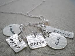 necklaces with children s names 5 kids name mothers necklace children s name necklace five kids