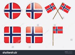 badges norwegian flag vector illustration stock vector 103430273