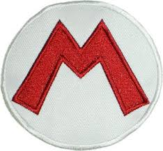 amazon super mario bros logo iron patch 3