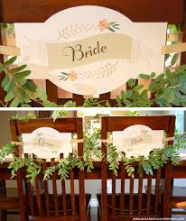 wedding chair signs free printable and groom chair signs coordinating