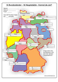 map of germany with states and capitals gap fill map of german states and capitals by embuchanan