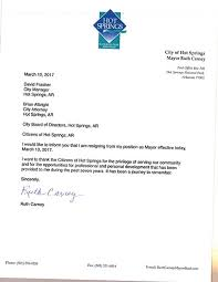 springs sentinel record mayor resigns carney u0027s resignation