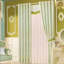 Kids Room Curtains by Light Green Star Patterns Rustic Living Room Curtains