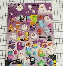 halloween body stickers japanese kawaii halloween puffy stickers 1 sheet ghost