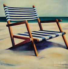 Beach Chairs For Sale Beach Chair Painting By Mary Naylor