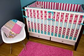 Pink And Aqua Crib Bedding Newborn Pink And Teal Baby Bedding 2018 Lostcoastshuttle Bedding Set