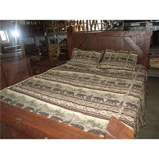 Red Oak Bedroom Furniture by Rough Cut Red Oak King Queen Full Or Twin Bed