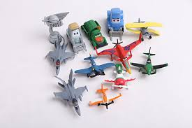 12 pcs toy story airplane dusty planes 2 miniature model air plane