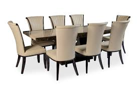 8 chair dining table tenore extra large marble dining table with 8 alpine leather dining