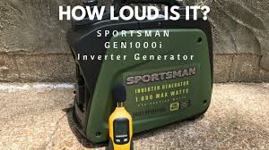 how loud is the sportsman gen1000i 800 1000 watt inverter