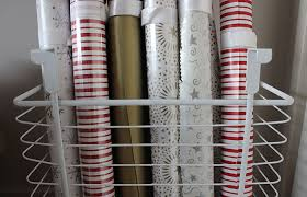 christmas paper storage wrapping paper tie diy a lovely look