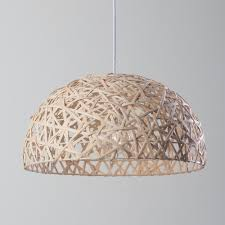 honey 1 light wicker wave ceiling pendant natural from litecraft