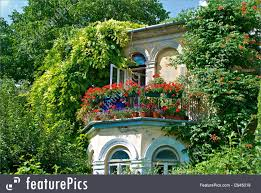 architectural details romantic balcony stock picture i2945019