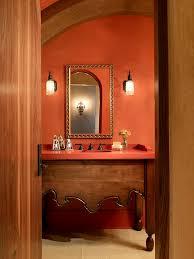 orange bathroom decorating ideas coral colored artwork vogue san francisco mediterranean bathroom