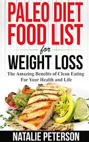 amazon com paleo food list paleo diet food list for weight loss