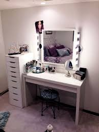 Mirrored Desk Vanity Furniture Makeup Desk With Lights Mirrored Desk Ikea Lighted