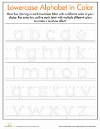 rainbow letters practice writing uppercase letters preschool
