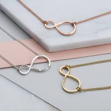infinity necklace with name personalised mummy and baby infinity necklace by posh totty designs