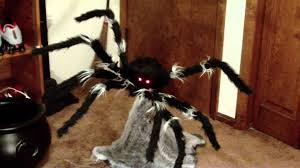 spirit halloween after halloween sale jumping spider animated prop youtube