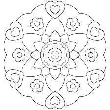 pretty design coloring page for kids coloring pages for kids to