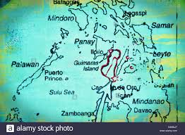 Map Of The Asia by Map Of The Visayas Philippines Asia Stock Photo Royalty Free