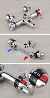 bath mixer shower exposed valve bottom brass thermo bathroom thermostatic bath mixer shower exposed valve bottom brass thermo bathroom faucet durable automatic anti scald