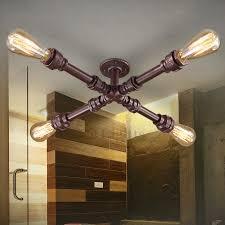 Industrial Bathroom Lights Unique 4 Light Water Pipe Shaped Industrial Bathroom Lighting