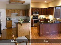 how to clean oak cabinets before staining image result for before after stained cabinets glazed