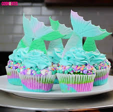mermaid cupcakes these mermaid cupcakes are magic