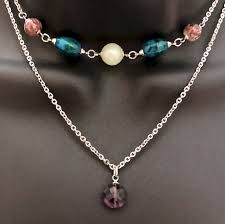 double choker necklace images Strength grief depression healing crystal reiki double choker jpg