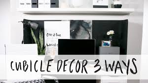 how to decorate a cubicle 3 ways youtube