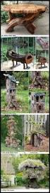 bench 10 absolutely wonderful tree stump landscaping decor ideas
