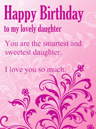 to my lovely purple flower happy birthday wishes card