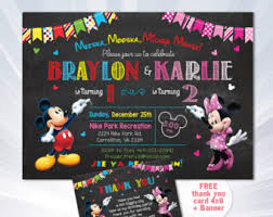 minnie invitations etsy