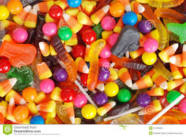 mixed halloween candy background stock photo image 21395560