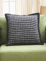 Patterns For Knitted Cushion Covers Houndstooth Pillow Pattern Yarnspirations