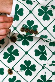 four leaf green and white st patrick u0027s day shamrock suit