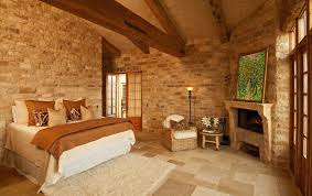 Master Bedroom Double Doors Open Floor Plan With Stone Fireplace Master Bedroom French Doors
