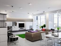 open space house living room living room neutral open plan interior design ideas