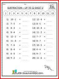 2nd grade math worksheets mental subtraction to 20 2 teacher