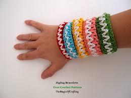crochet bracelet images Free crochet patterns and diy crochet charts zigzag bracelets jpg
