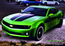 Black Mustang With Green Stripes Green Is My Favorite Color But Corvettes Eat Camero U0027s For