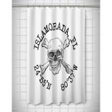 Skull And Crossbones Shower Curtain Beach House Shower Curtains And Bath Mats