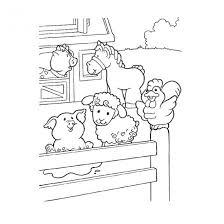 Coloriage Animaux de Ferme en Ligne dessin gratuit à imprimer