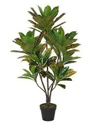 47 25 decorative potted artificial brown and green palm