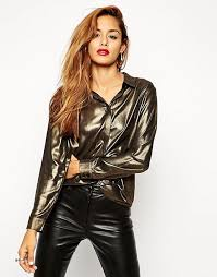 metallic blouse asos asos metallic blouse