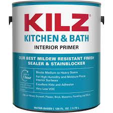 what of primer do i use on kitchen cabinets kilz kitchen bath water based low voc interior primer